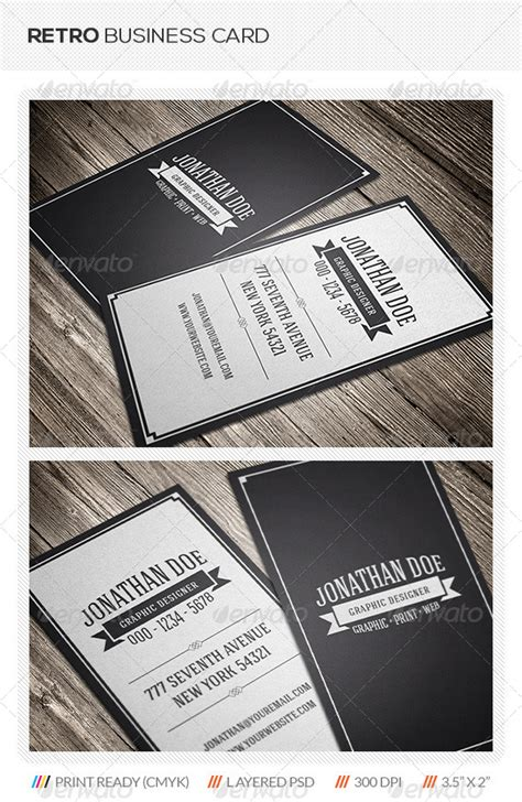retro business card template retro business card graphicriver