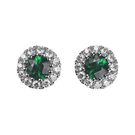 and emerald stud earrings ref lge108em