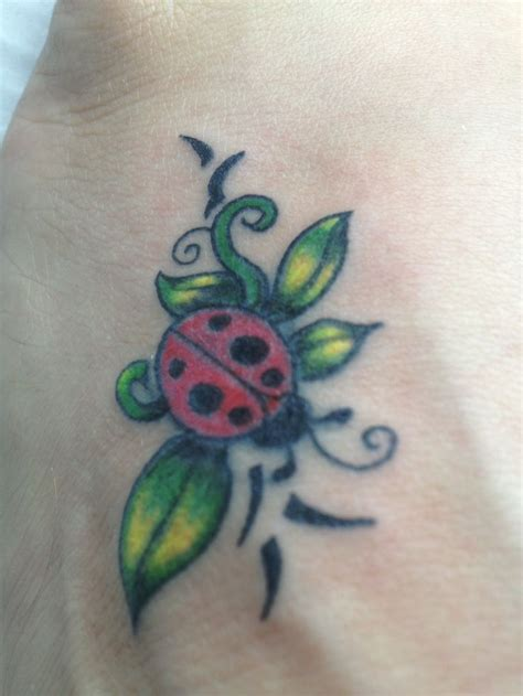 lady bug tattoo ladybug on my own foot tattoos i like