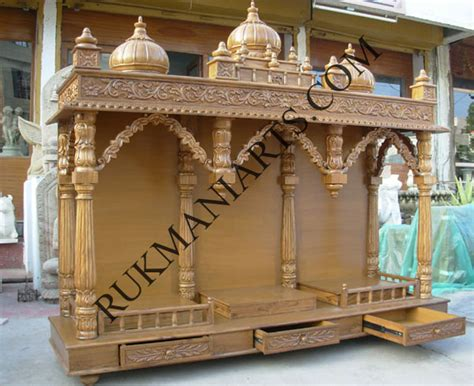 wooden home temple design on 678x549 pooja room mandir