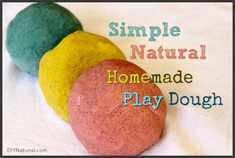 Handmade Playdough - playdough a simple and all recipe