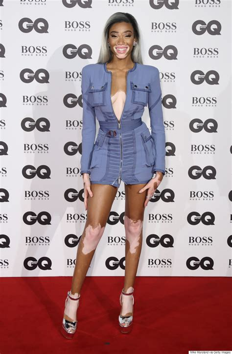 gq hairstyles mississauga winnie harlow slays the 2016 gq men of the year awards