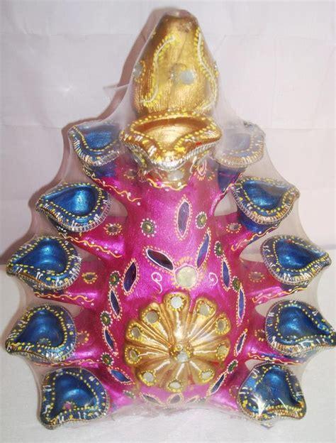 Handmade Diwali Gifts - handmade earthen vruksh diya tree large rp504l
