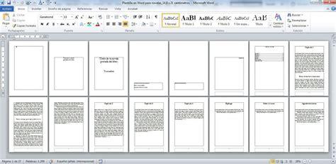Donde Esta La Plantilla De Curriculum En Word 2010 Plantillas En Word Para Componer Novelas