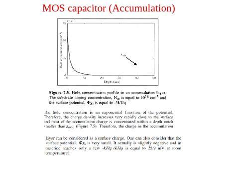 mos capacitor accumulation metal insulator semiconductor and metal insulator metal structures part iv