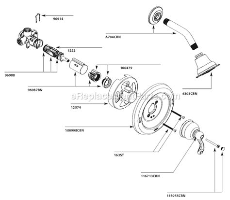 moen bathroom faucet parts diagram moen 82006cbn parts list and diagram ereplacementparts com