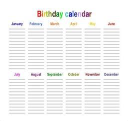 birthday reminder calendar template birthday calendar 43 calendar template free premium