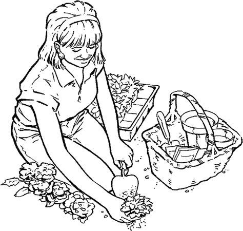 garden coloring gardening coloring pages best coloring pages for