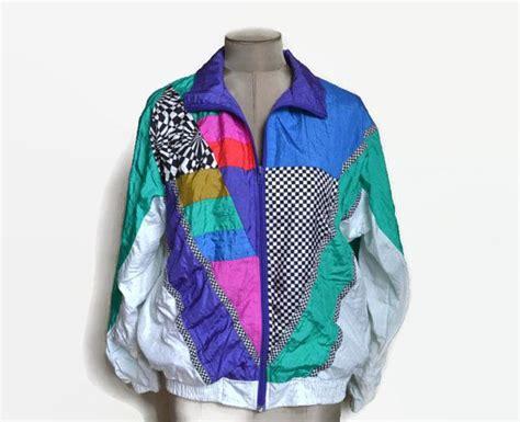 multi colored windbreaker 90 s vintage sport multi colored wind jacket wind