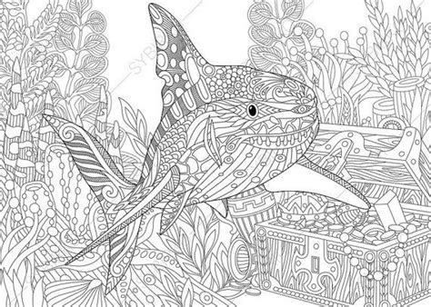 shark mandala coloring pages 18 best images about ocean world on pinterest adult