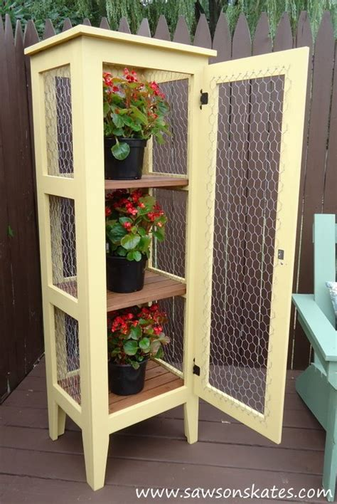 Patio Cabinet by Diy Patio Garden Cabinet To Display And Protect Plants