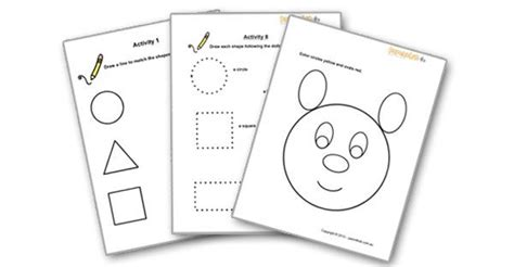 Free Preschool Worksheets For 3 Year Olds by Maths For Shapes Parenthub