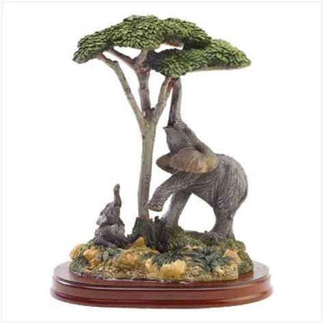 elephant figurines elephant and child figurine polyresin with wood base 5 1