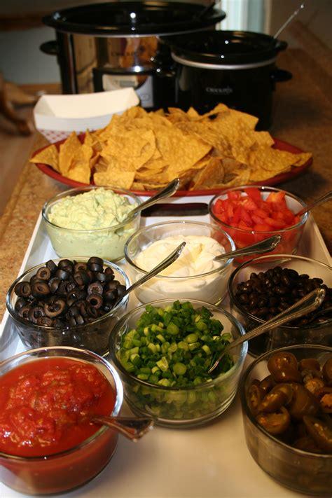 taco bar topping ideas super bowl nacho bar the magical slow cookerthe magical