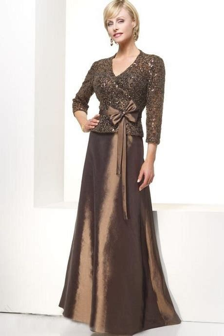 Bj 9024 Brown Lace Dress gowns with sleeves of
