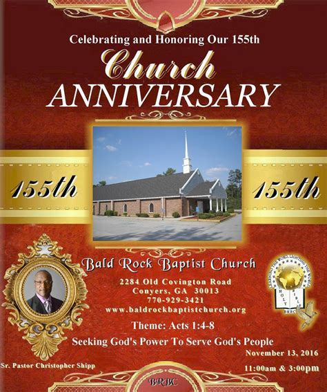 church anniversary program covers