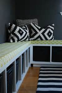 ikea corner bench hack diy ikea hack expedit benches and storage could