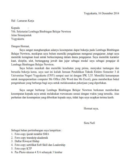 contoh dokumen contoh surat lamaran kerja jurnal contoh surat lamaran kerja guru yang baik dan benar lengkap