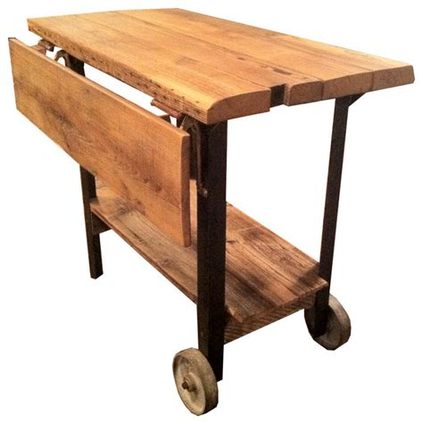 custom rustic drop leaf table or kitchen island rustic