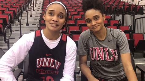 unlv lady rebels gonzalez twins talk   differences youtube