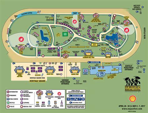 festival directions festival map new orleans jazz heritage festival
