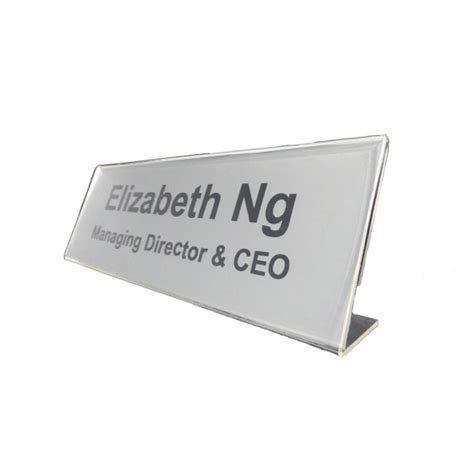 l shaped table top 9050c l shape acrylic table top name plate holder9050c