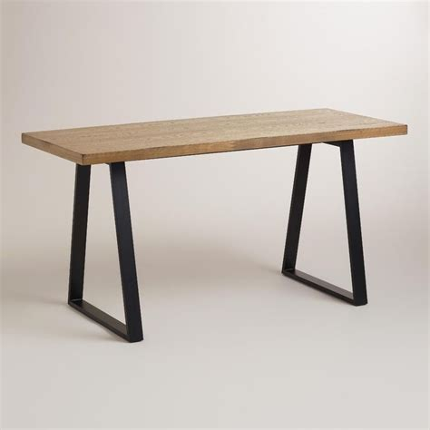 wood and blackened metal colton mix match desk