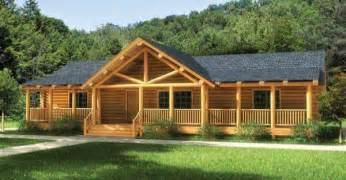 One Story Log Home Plans by Finally A One Story Log Home That Has It All Click To