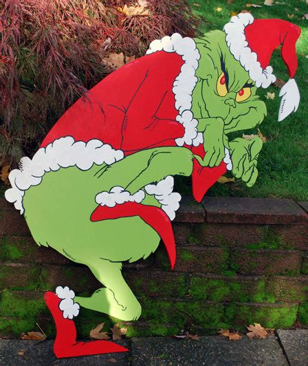 grinch pattern yard art grinch yard art by grimestown on etsy crafts pinterest