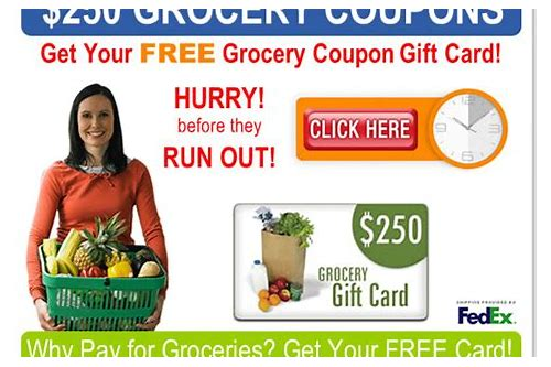 free grocery coupons by mail only