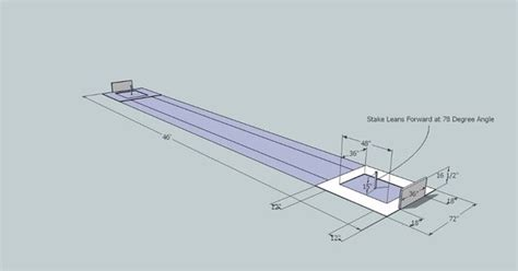 horseshoe pit dimensions backyard official horseshoe pit dimensions diagram how to build a