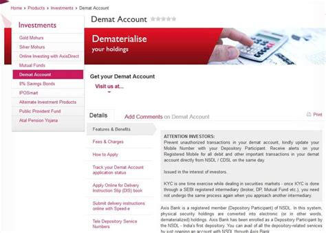 How To Open D Mat Account by Axis Bank Demat Charges Brokerage Page 2 2017 2018