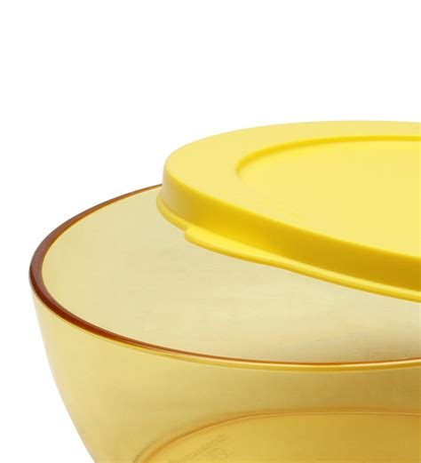 Tupperware Small Bowl Yellow Green tupperware 1 pc medium yellow clear bowl 610 ml by