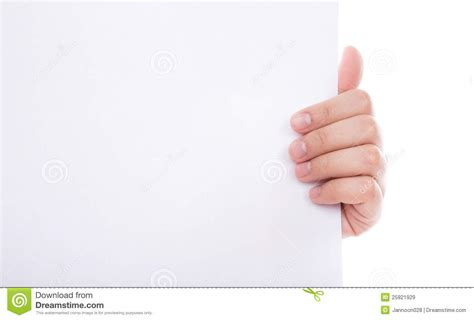 How To Make Paper Holding - holding white empty paper stock image image