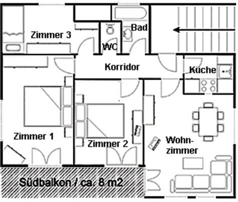 hauptschlafzimmer grundriss ferienwohnung sotch 224 8c scuol ferienwohnung f 252 r 2 6