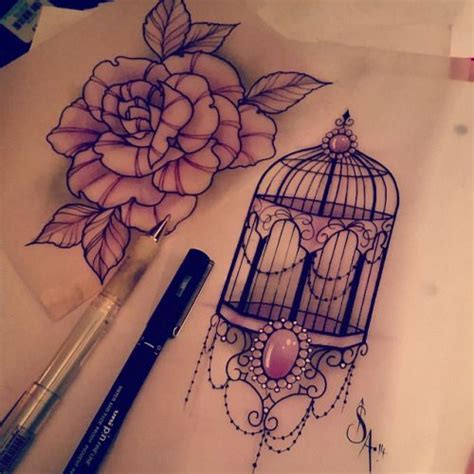 bird cage tattoo designs 25 best ideas about bird cage tattoos on cage
