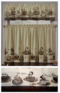 Coffee Cup Kitchen Curtains Coffee Kitchen Curtains