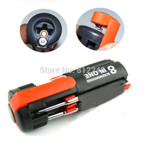 Senter Multi Tools 8 1 Torch 8 in one multi screwdriver with led flashlight torch