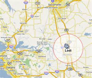 map lodi california wines by a global wine boutique