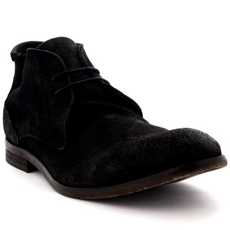 mens suede chukka boots uk mens h by hudson osbourne suede ankle high smart casual