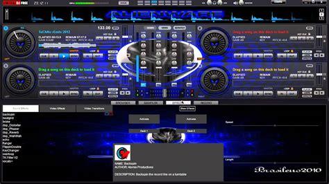 imagenes de virtuales dj skin para virtual dj 7 alien blue personalizado 2012 youtube