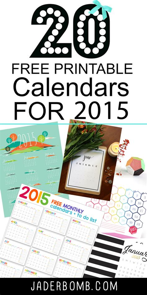 jade template 20 free printable calendars 2015 jaderbomb