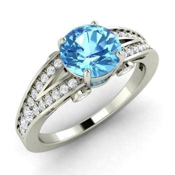 Blue Topaz 1 48 Carat xena ring with blue topaz si 1 48 carat