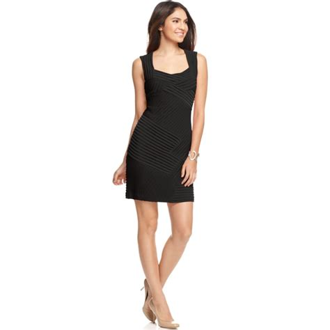 Ck Calvin Klein Sleevlees Dress calvin klein sleeveless pleated jersey cocktail dress in