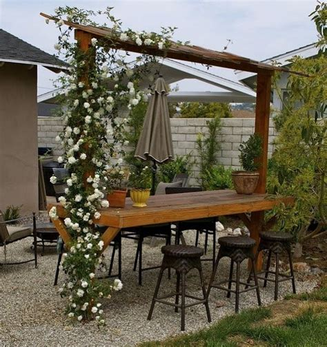 easy space conscious outdoor bar design ideas