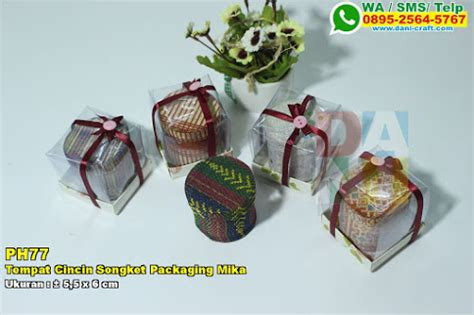 Tempat Cincin Lidi souvenir kantong songket habutay kemas souvenir pernikahan