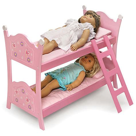 doll bunk beds badger basket doll bunk bed with ladder blossoms and