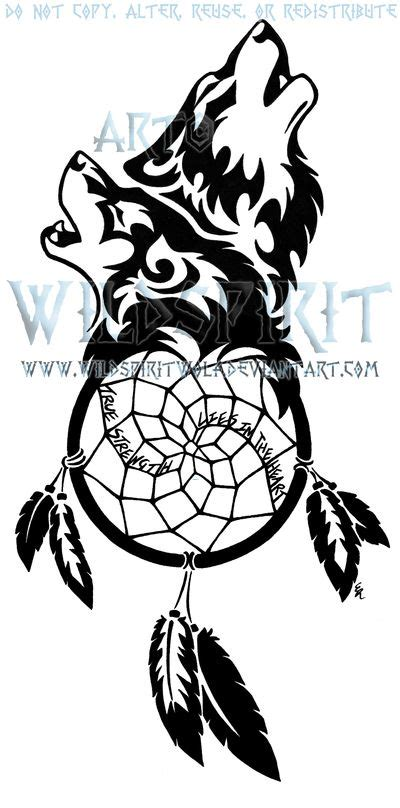 dreamcatcher tattoo black and white wolf dream catcher clipart clipground