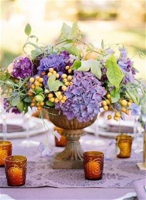 Wedding Program Fans Purple And Yellow Wedding Centerpieces