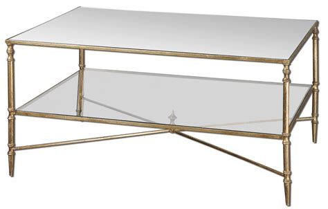 mirrored glass coffee table uttermost henzler mirrored glass coffee table ojcommerce